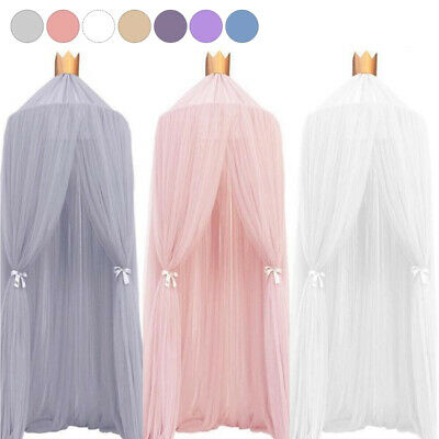 Baby Kids Round Bed Crib Netting Hanging Mosquito Lace Net For Girls Room GL