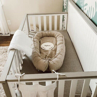 Newborn Baby Nest Bed Portable Crib Travel Bed Infant Toddler Cotton Cradle GL