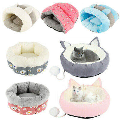 Pet Mat Dog/Cat Bed Pet Bed Round Comfy Calming Soft Plush Marshmallow Puppy Bed