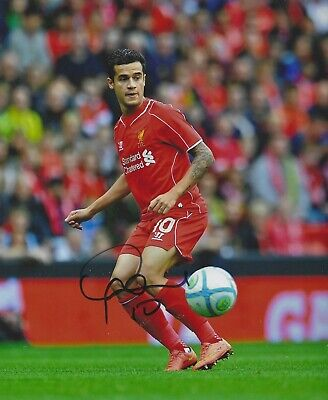 PHILIPPE COUTINHO SIGNED 8x10 PHOTO - UACC & AFTAL RD  LIVERPOOL  AUTOGRAPH