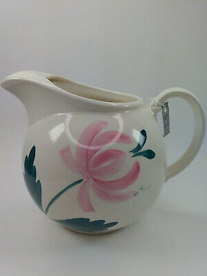 Antique 1940's Taylor Smith & Taylor Ice Lip Pitcher Dutch Tulip Hand Painted