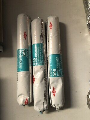 LOT 3 Tubes Dow Dowsil 995 Silicone Structural Sealant Black exp 2021
