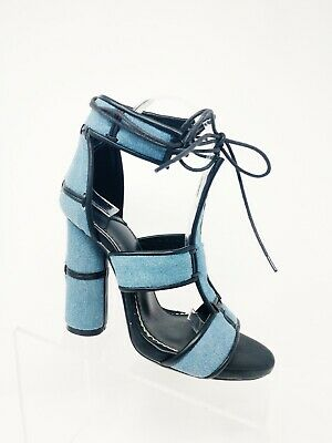 MAURA 2 CAPE ROBBIN Lace Up Ankle Strap Open Peep Toe