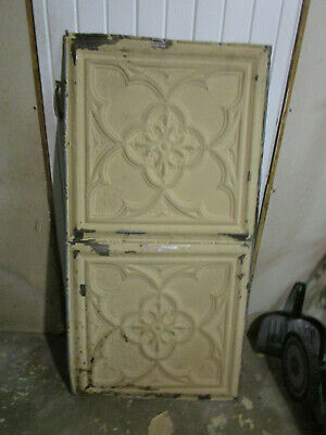"ANTIQUE METAL TIN CEILING TILE #106, 48"" X 24"" Project Grade"