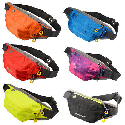 Waterproof Running Waist Pouch Fanny Pack Camping Sports Gym Hiking Bum Zip Bag