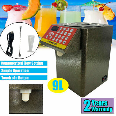 9L Automatic Fructose Quantitative Machine Milk Tea Juice Beverage Dispenser US