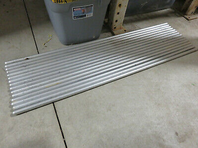 Aluminum upright support rod for lab benches 42 inches by 0.75 inch OD lot of 3