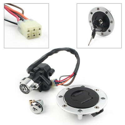 For Suzuki Hayabusa GSXR1300 1999-15 Ignition Switch Fuel Gas Cap Seat Lock Key