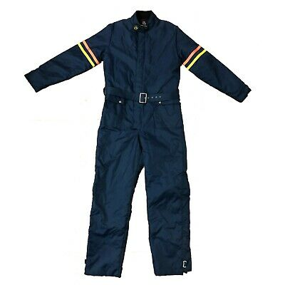 Vintage Motorcycle Racing Suit Mens Large Wheels of Man USA UNION Made Blue