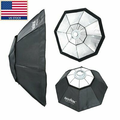US Godox Top Octagon Softbox 37' 95cm Bowens Mount For Studio Strobe Flash Light