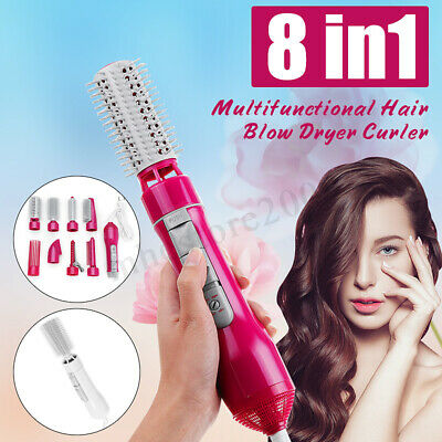 8-in-1 Professional Salon Hair Blow Dryer&Volumizer Roller Curler Hot Comb  ~