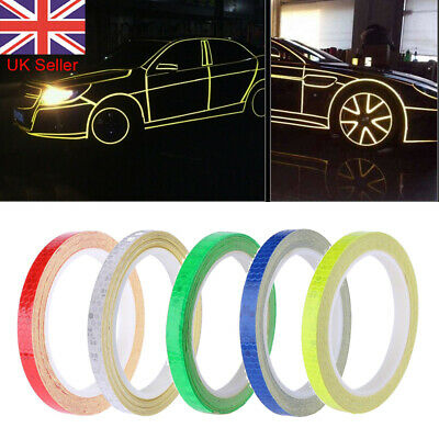 UK Reflective Tape 8M Safety Stickers Hi Vis Safety Warning Self-Adhesive Silver