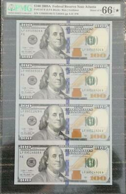 2009A United States Atlanta Sheet of 4 $100 Banknotes PMG 66 GEM UNC
