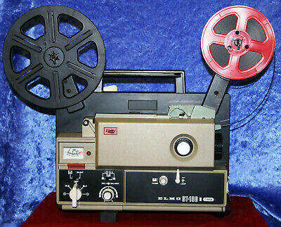 ELMO ST-180  SUPER 8mm, 2 TRACK MAGNETIC SOUND MOVIE PROJECTOR, SERVICED A1