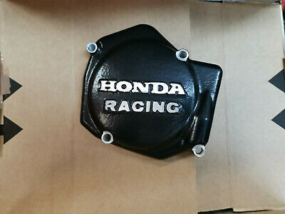 Honda Racing CR125 CR 125 Ignition Inspection Cover Sand Cast 1987 - 2001 Black