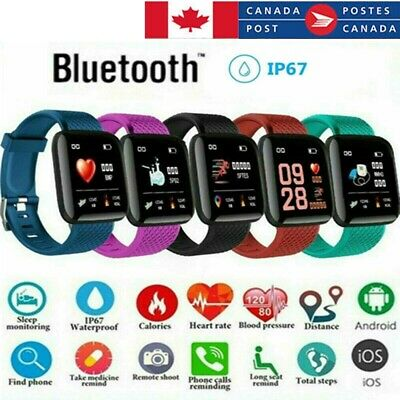 CA Fitness Smart Watch Band FIT-BIT Sport Activity Tracker For Kids Android iOS.