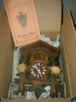Vintage Unused Hubert Herr Cuckoo Clock Still Unwrapped in Original Box