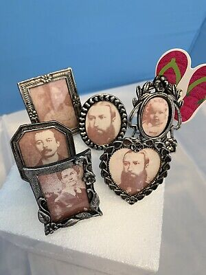 VTG  - Miniature Picture Charms With Old Photos From Estate Sale