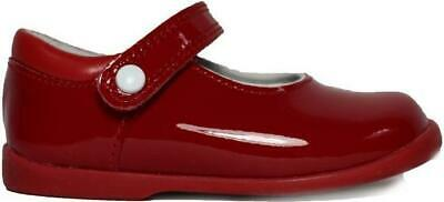 Startrite Nancy Red Patent Leather Girls Mary Jane Rip Tape Shoes