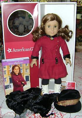 "American Girl 18/"" Doll Rebecca Original Meet Outfit White BOOTS ONLY Retired"