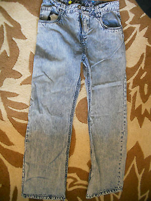 NEXT - BLUE STRAIGHT LEG  Denim Jeans with ZIP fly SIZE 12 YEARS