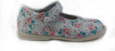 Startrite Nancy Pink Floral Leather Girls Mary Jane Shoes