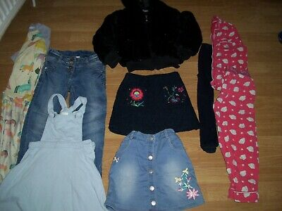 Girls winter bundle of clothing.Age 5-6 years.Jacket, skirts jeans, pyjamas.