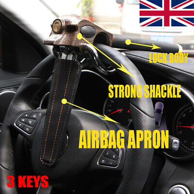 Car Van Steering Wheel Lock Foldable Anti Theft High Airbag Lock with Keys Set