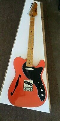 Firefly Semi Hollow Telecaster Style Burnt Orange Color Nice New Clean Ffth