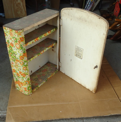 vintage first aid cabinet metal box with mirror,emergency kit box primitive