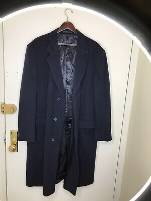 Men's Dunn & Co England Vintage Overcoat 44R 100% PURE CASHMERE Great Cond rare