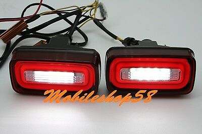 2 Direct Fit Halo LED Daytime Running Lights Fog Lamps Assembly CarLab