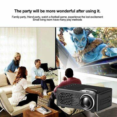 1080P Mini LED Portable Wireless Pocket WiFi Multimedia Video Projector Home #T