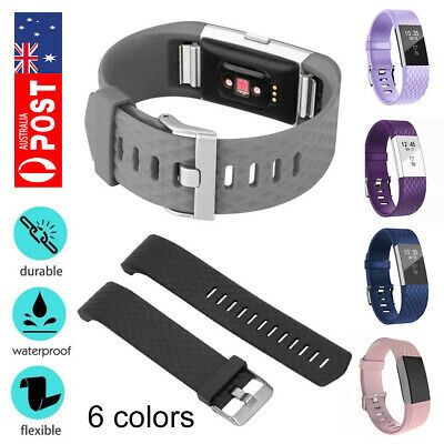 For Fitbit Charge 2 Wristband Silicone Watch Wrist Sports Band Strap AU