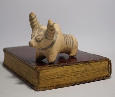 Indus Valley terra-cotta bull, painted stripes, circa 3,000 BC