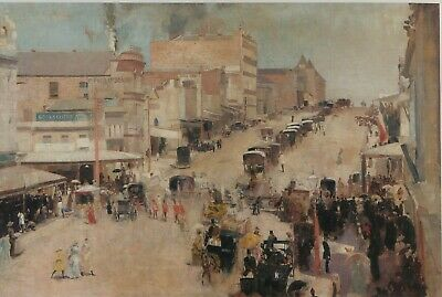 "Canvas Prints Tom Roberts  Painting -  ""Bourke Street""   Framed & Ready to Hang"