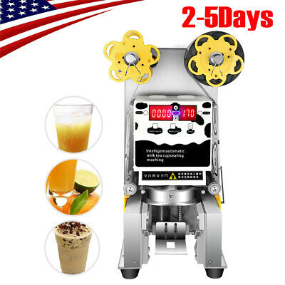 Fully Automatic sealer Paper/Plastic cup sealing machine  Sealer 90/95mm