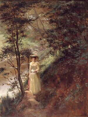 "Frederick McCubbin Painting - Canvas Print  ""The Letter"" Framed & Ready to Hang"