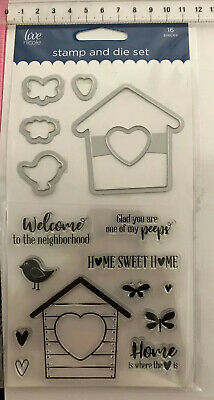 Love Nicole Clear Stamp And Die Set ~ Welcome To The Neighbourhood Home ~ 16pc