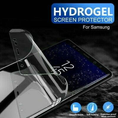 2X For Samsung Galaxy S9 S10 Slim Soft Film Hydrogel Screen Protector Case Cover