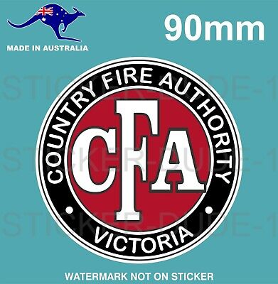 Vintage Cfa Country Fire Authority Sticker