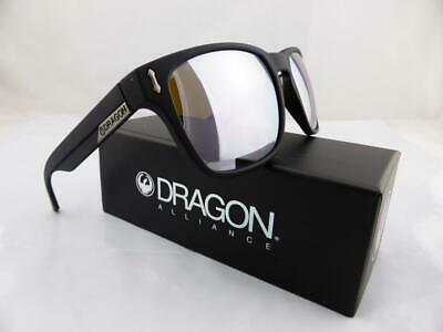Dragon MONARCH XL Sunglasses Matte Black - Silver Ionised Lens