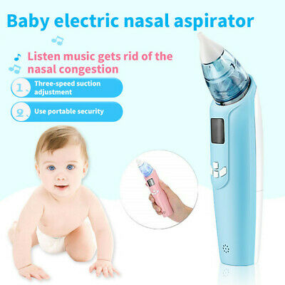 Electric Nasal Aspirator Baby Mucus Nose Cleaner for Newborn Infant Toddlers AU