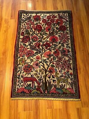 Vintage Handmade Knotted wool Persian rug