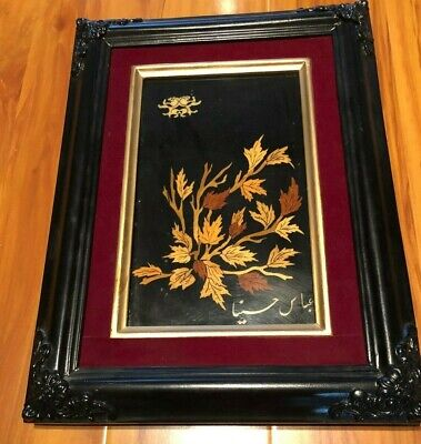 Vintage Wood hand carving Wall Art Home Decor Picture