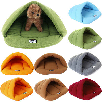 Large Pet Cat Dog Bed Calming Warm Cushion Comfy Blanket Sleeping Bag Cave House