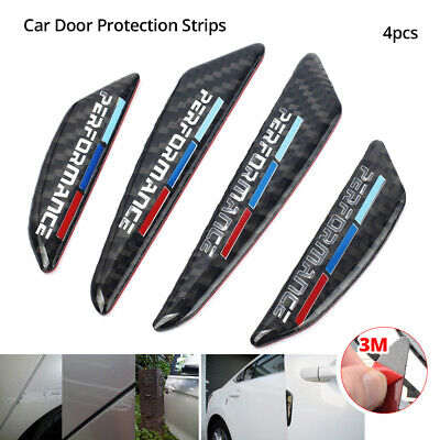 M Performance Strips Carbon Car Side Door Edge Guard Protector Stickers For BMW