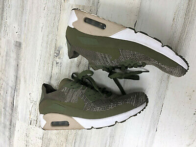 NIKE AIR MAX 90 Ultra 2.0 Flyknit Olive Running Shoes 875943