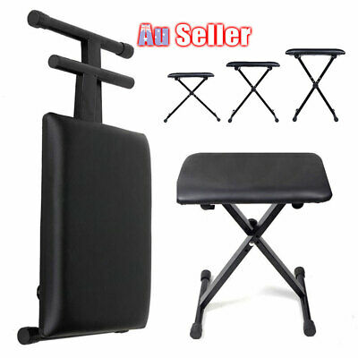 Piano Stool Keyboard Seat Chair Black Adjustable Bench 3 Way Portable ACB#