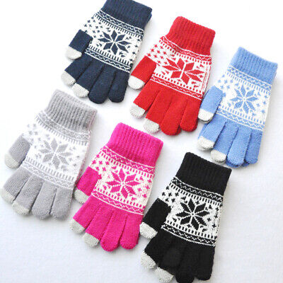Unisex Knitted Winter Women Men Touch Screen Hand Wrist Warmer Fingerless Gloves